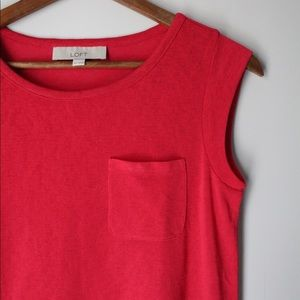 Ann Taylor Sleeveless Blouse With Pocket